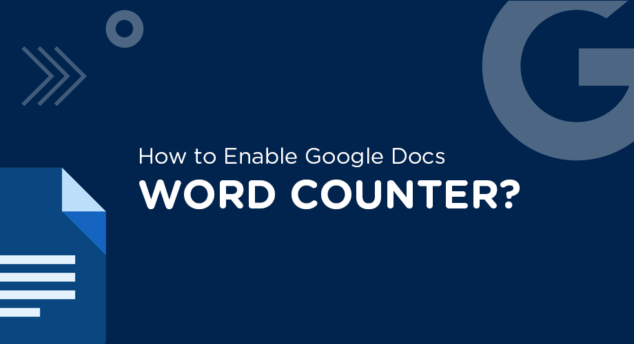 How to Enable Google Docs Word Counter
