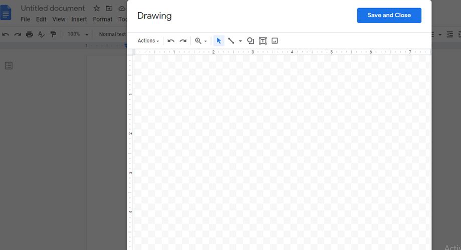 Drawing Window in Google Docs