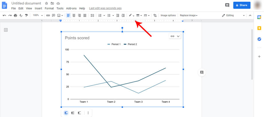 Editing Line Graph in Google Docs