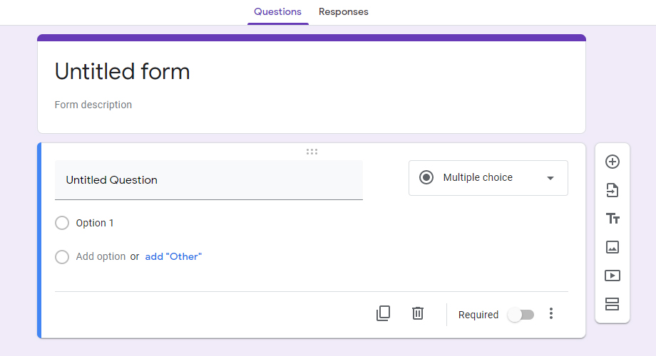 Fillable Form in Google Docs