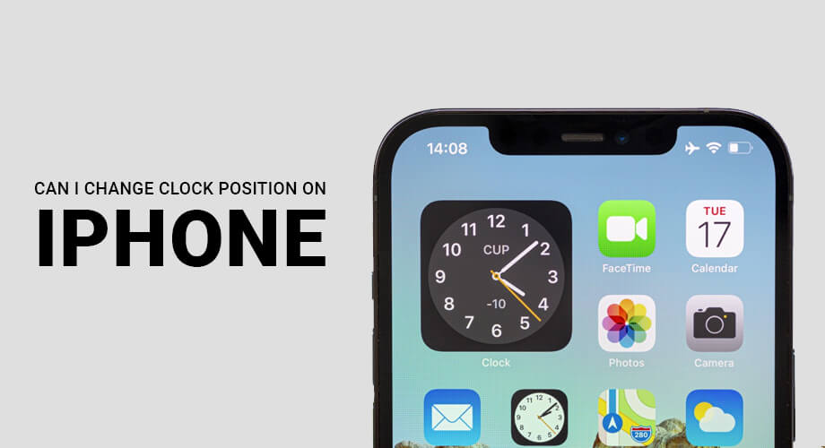 Change Clock Position on iPhone