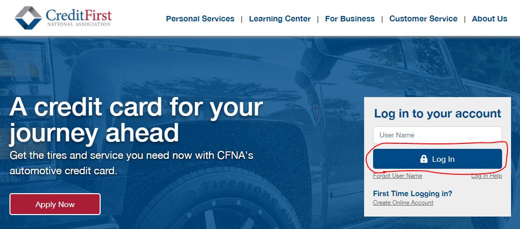 CFNA Login Page at www.cfna.com