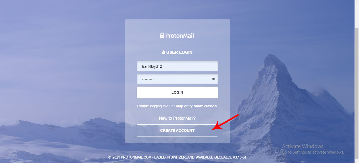 Create Protonmail Account