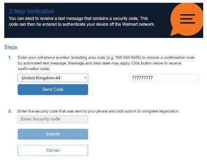 Set Up Text Messaging for Walmart 2 Step Verification
