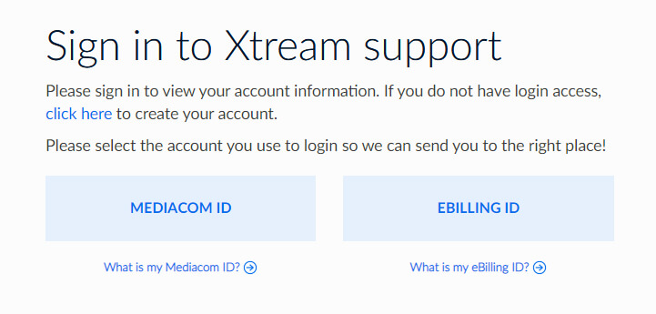 Mediacom Account Login
