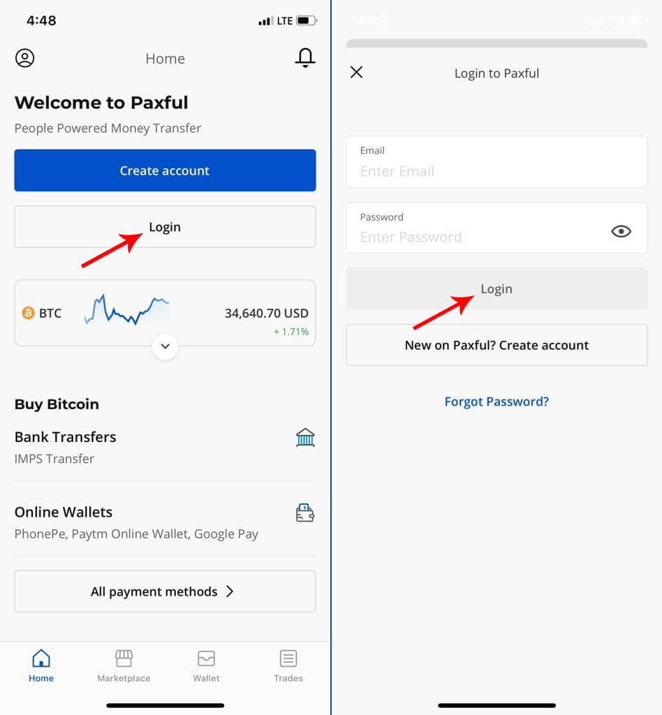 Paxful Mobile Login