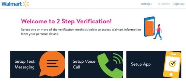 wmlink/2step Walmartone 2 Step Verification