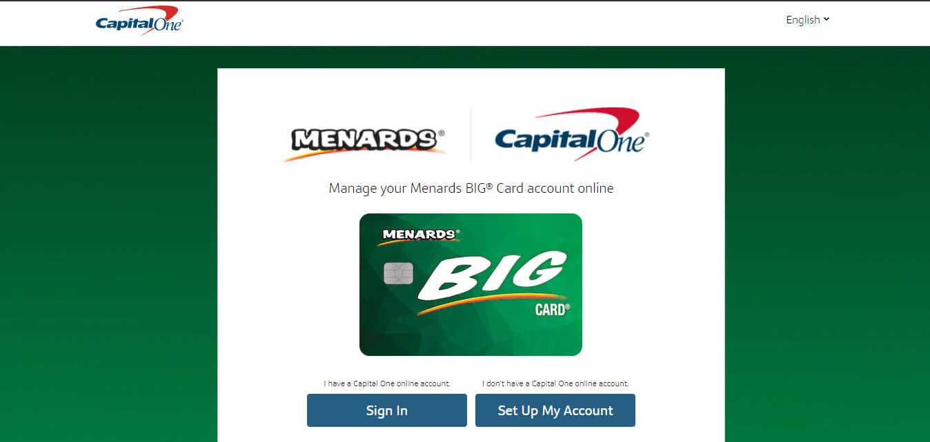 Menards Credit Card Login Steps