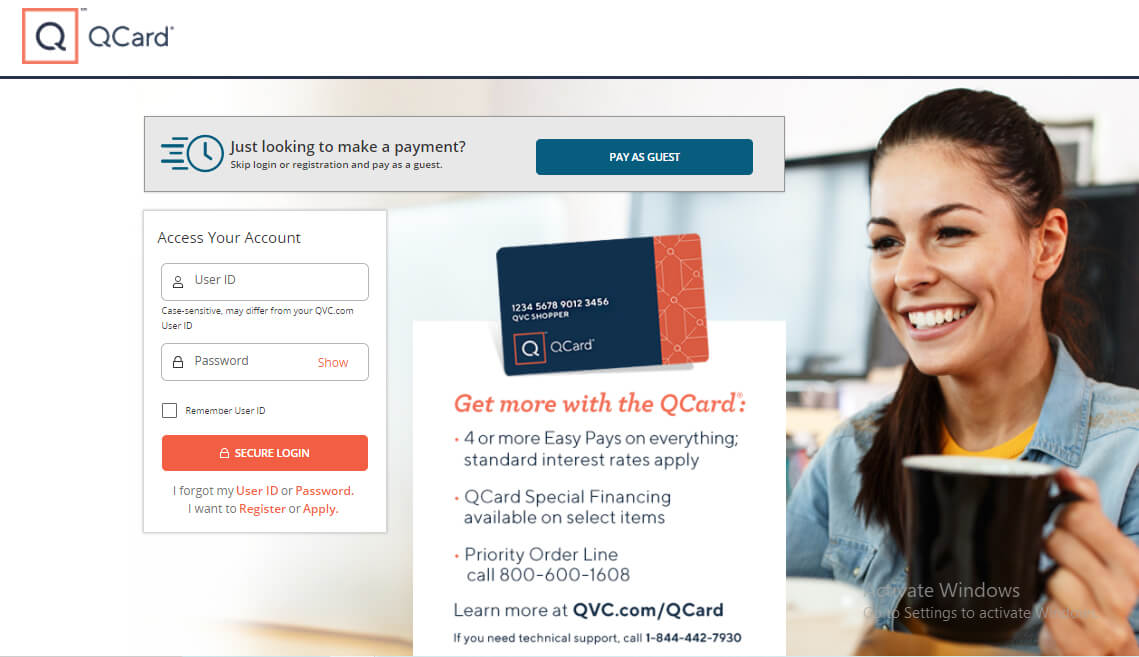 Qcard Login Page