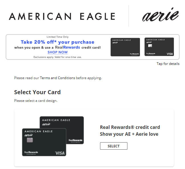 Apply American Eagle Credit Card Online