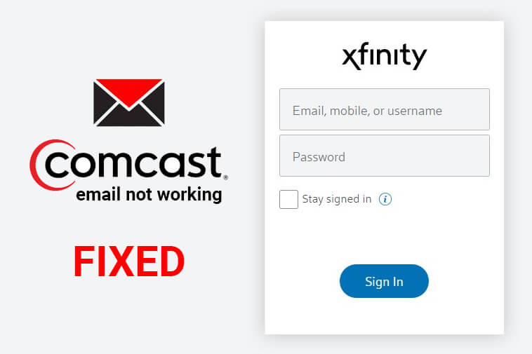 Fix Comcast Email Not Working