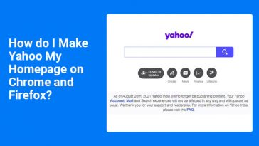 Make Yahoo My Homepage