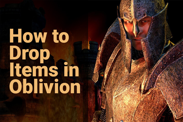 How to Drop Items in Oblivion